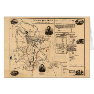 Civil War Battlefield of Stone River Dec. 31, 1862 Card