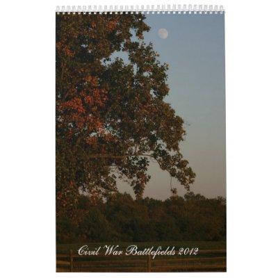 Civil War Battlefields 2012 Wall Calendars