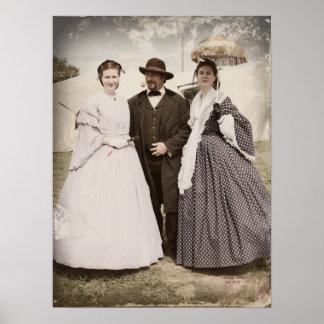Civil War Belles Vertical Print or Poster