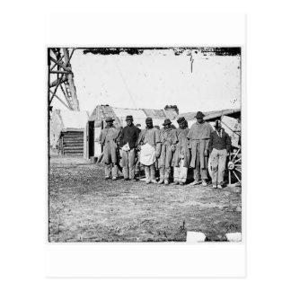 Civil War, Black Teamsters Postcard