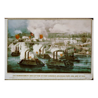 Civil War Bombardment and capture of Fort Hindman Poster