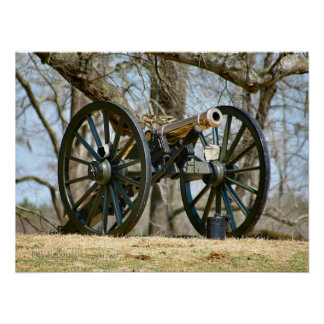 Civil War Brass Cannon Poster
