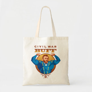 Civil War Buff Grant--Nerdtastic Designs Tote Bag
