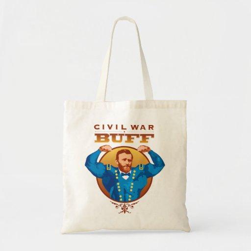 Civil War Buff Grant--Nerdtastic Designs Tote Bags