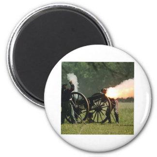 Civil War Cannon 2 Inch Round Magnet