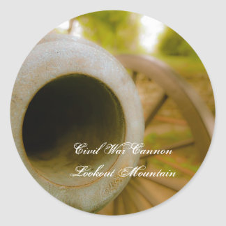 Civil War Cannon at Lookout Mountain Classic Round Sticker