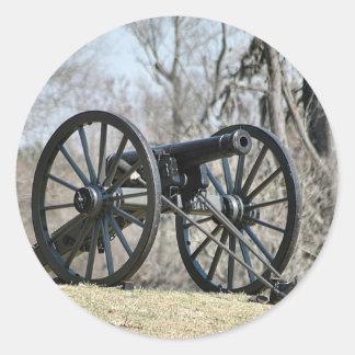 Civil War Cannon Classic Round Sticker