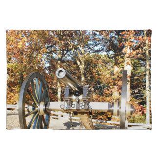 Civil War Cannon Cloth Placemat