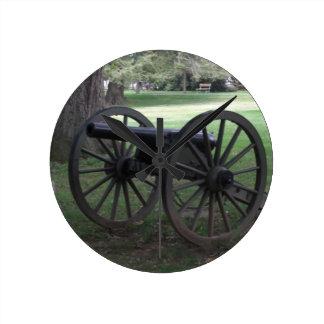Civil War Cannon in Gettysburg Wall Clocks