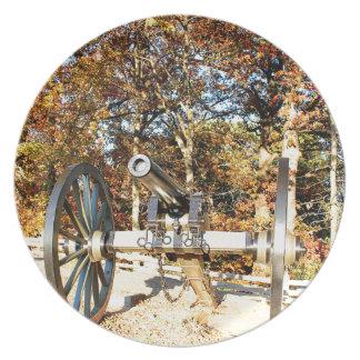 Civil War Cannon Melamine Plate