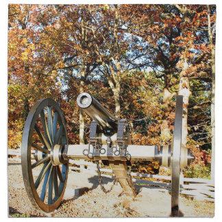 Civil War Cannon Napkin