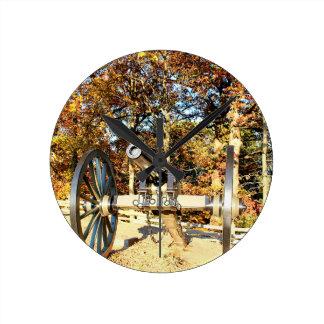 Civil War Cannon Round Clock