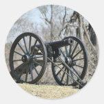 Civil War Cannon Round Stickers