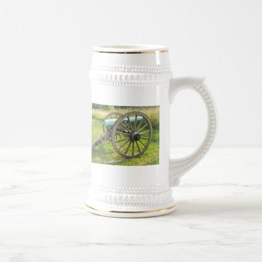 civil war cannon stein coffee mug