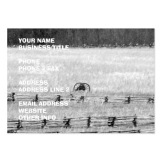 Civil War Cannons Photograph Large Business Cards (Pack Of 100)