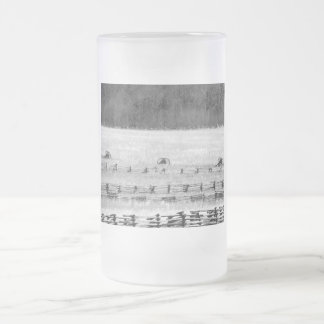 Civil War Cannons Photograph Frosted Glass Beer Mug