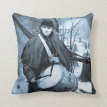 Civil War Drummer Boy Vintage Throw Pillows