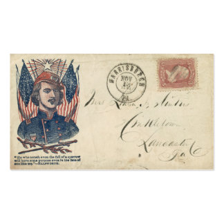 Civil War Envelope #2 Double-Sided Standard Business Cards (Pack Of 100)