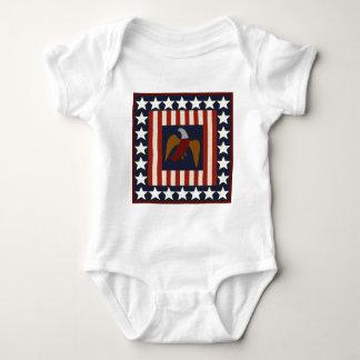 Civil War Era Digital Art Quilt Square Baby Bodysuit