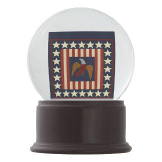 Civil War Era Digital Art Quilt Square Snow Globe