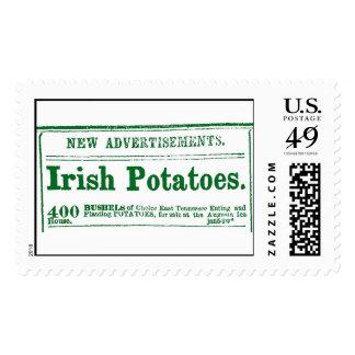 Civil War-era Irish Potatoes classified newspaper  Postage Stamp