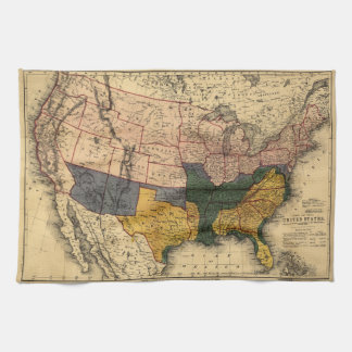 United States Map Kitchen Towels Zazzle - Rustic map of the us in the civil war