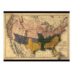 Civil War Map Gifts On Zazzle - Us-map-civil-war-era