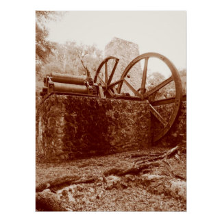 Civil War Era Sugar Mill - Poster