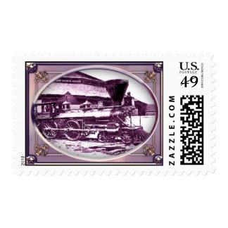Civil War Era Train Postage Stamp
