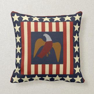 Civil War Era Union Eagle Quilt Square Pillow