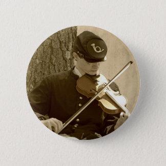 Civil War Fiddle Player Button