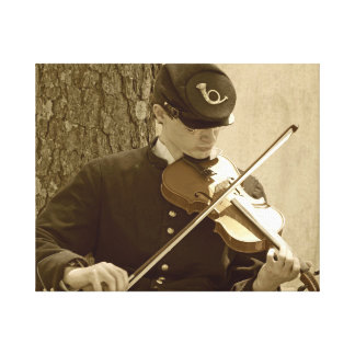 Civil War Fiddle Player Canvas Print