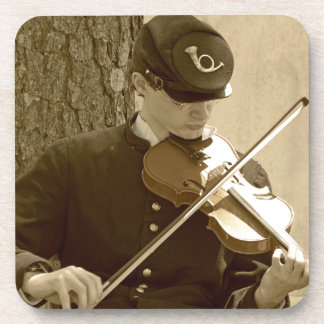 Civil War Fiddle Player Coaster