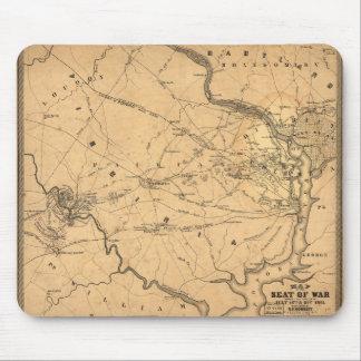 Civil War First Battle of Bull Run Map Seat of War Mouse Pad