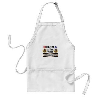 civil war fun art adult apron