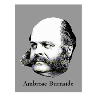 Civil War General Ambrose Burnside Postcard