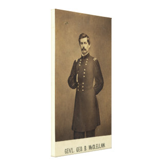 Civil War General George B McClellan Print Canvas Print