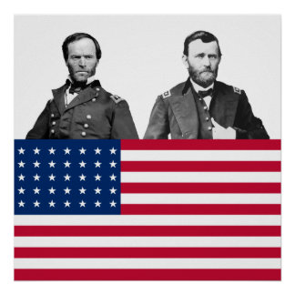 Civil War Generals Sherman and Grant Print