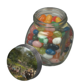 Civil War - Gettysburg camp of Captain Huft 1865 Jelly Belly Candy Jar