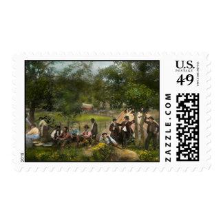 Civil War - Gettysburg camp of Captain Huft 1865 Postage Stamp