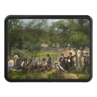 Civil War - Gettysburg camp of Captain Huft 1865 Tow Hitch Cover