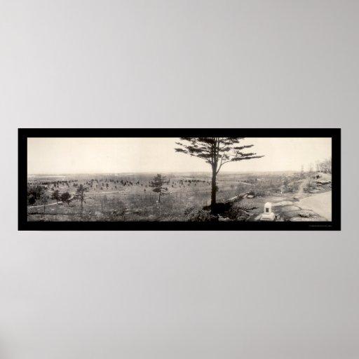 Civil War Gettysburg Photo 1909 Posters