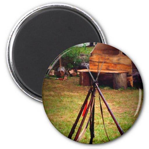 Civil War Guns 2 Inch Round Magnet