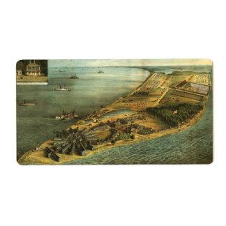 Civil War Hammond General Hospital and Prison 1864 Label