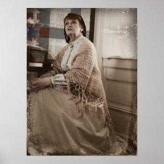 Civil War Harriet Beecher Stowe Vertical Print