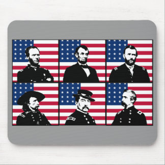 Civil War Heroes and The American Flag Mousepads