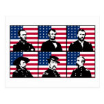 Civil War Heroes and the American Flag Post Cards