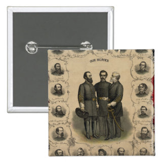 Civil War Heroes Button