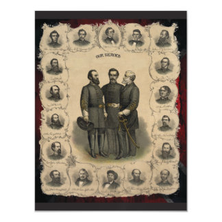 Civil War Heroes Magnetic Card