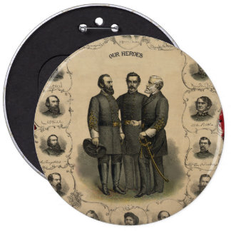 Civil War Heroes Pinback Button